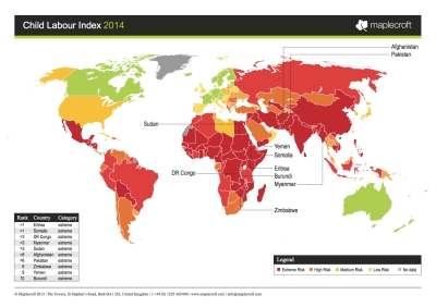 Child Labor Map 2014