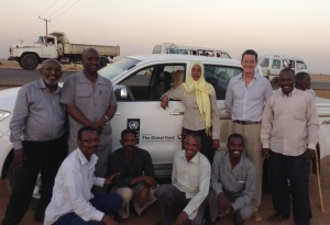 Sebastian with the Global Fund in Sudan