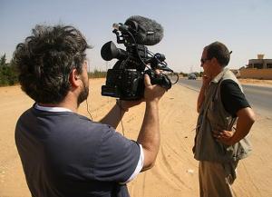 Ross filming Peter